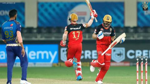 Royal Challengers Bangalore beat Mumbai Indians in a super over.